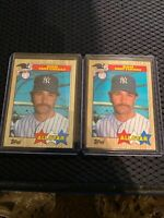 1987 Topps Don Mattingly New York Yankees #606 Baseball Card Lot