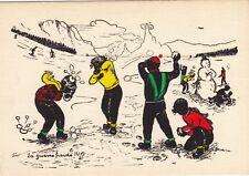 Carte postale HUMORISTIQUE HUMOUR boules de neige capra 406