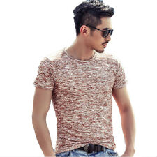 Fashion Mens Muscle Short Sleeve Shirt Crew Neck Casual Slim Fit T-shirt Tee Top