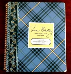 Vera Bradley, Large Notebook, Windsor, Spiral, Perforated Pages, New in Package