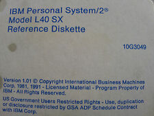 Reference Startup Diskette fo Vintage IBM PS/2 L40 SX LAPTOP 10G3049 WIN 3.1 Era