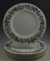 WEDGWOOD BONE CHINA SUMMER GARLAND SET OF 6 DINNER PLATES, RARE