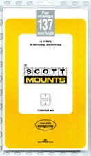 Scott/Prinz Pre-Cut Strips 265mm Long Stamp Mounts 265x137 #958 Clear