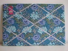 Notice Board Pin/memo/Photo Cork Vintage Sanderson Morris Chrysanthemum Fabric