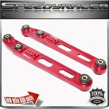 SPEEDYRACER BILLET Rear Lower Control Arms for 1996-2000 Honda Civic RED