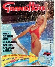 RIVISTA MAGAZINE GRAND HOTEL N.29 1989 MARIA GIOVANNA ELMI FUNARI