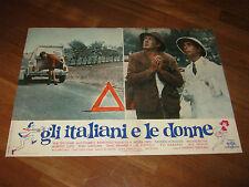 Fotobusta,GLI ITALIANI E LE DONNE,GIROLAMI,VIANELLO VIGILE AUTO CAR FIAT 500