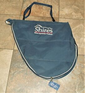 SHIRES PADDED, ZIPPED SADDLE BAG IN NAVY