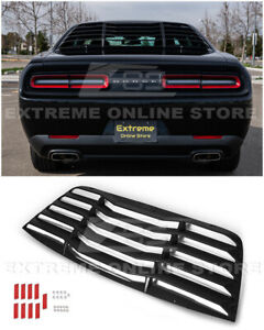 For 08-Up Dodge Challenger ABS Plastic Rear Window Louver Sun Shade Cover