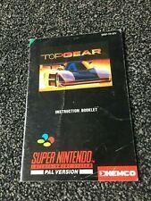 Instruction Booklet  Top Gear  Nintendo SNES   - SNSP - TR - UKV