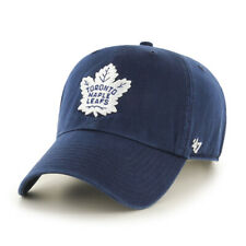 Toronto Maple Leafs NHL Hockey Navy Blue / White '47 Brand Clean Up Cap