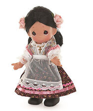 """PRECIOUS MOMENTS Vinyl Doll MEXICAN GIRL Costume Dress MEXICO SKIRT Pink Rose 9"""""""