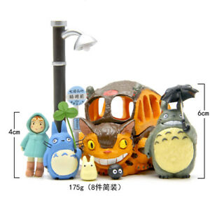 New 8pcs/set Tonari no Totoro Resin decoration doll Anime action figure Toy gift