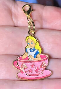 Gold Alice From Alice In Wonderland Zipper Pull &Keychain Add On Clip