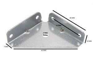 Eckhalterung Klammer 50mm Quadrat 14mm Deep Zp Stahl Packung 20
