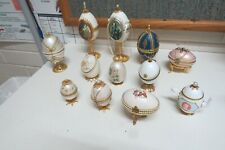 12 original Hand Painted Decorated  real Egg shells   Faberge