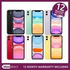Apple iPhone 11 A2221 64/128GB 12MP Smartphone Black/White Unlocked/EE GOOD