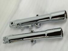 HARLEY SOFTAIL,DELUXE HERITAGE CHROME FORK SLIDERS LOWER LEGS 2007-2012