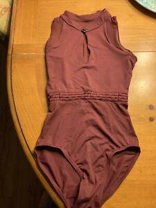 bloch fashion leotard size P, burgundy