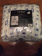 Ralph Lauren Nora 3 Pc Full/Queen Size Paisley Comforter Set Blue 100% Cotton