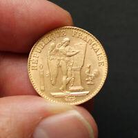 Pièce Or France 20 Francs Génie Années Variées 1871-1898