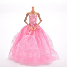 1 Pcs Lace Pink Party Grown Dress for Pincess s 2 Layers Girl's Gifts H&P