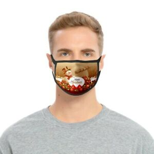 Christmas Snowman Face Mask Washable Reusuable Breathable