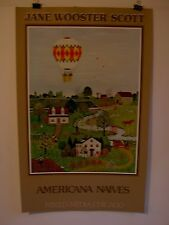"Vintage poster by Jane Wooster Scott ""A World in Bloom"" American Naives"