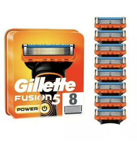 Gillette Fusion 5 Power XL Blades 8 Cartridges New Genuine Improved Blades