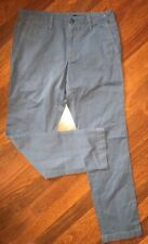 Mens GAP slim slub Vintage Washed Blue khaki pants 31x30, FREE SHIP!!