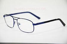 Fernbrille für Herren Brille Ersatzbrille aus Metall blau -1,0 bis -6,0 Neu
