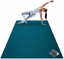 Premium Large Yoga Mat 7 x 5' x 8mm Extra Thick Wide Exercise Workout Blue