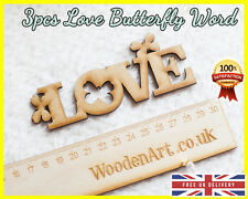 3pcs Love Letter Buttefly Wooden Letter MDF Scrapbooking Wood Word Embellishment