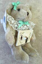 Teddy Bear w/ Angel on My Shoulder August Birth Stone Peridot Pin Cozy's Inc