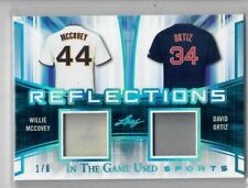 WILLIE McCOVEY DAVID ORTIZ 2018 Leaf In The Game Used ITG Jersey Relic Patch 1/6