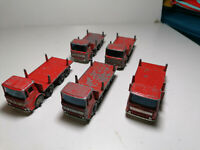 Vintage Matchbox Lesney Moko No.10D - Pipe Truck x 5 (B86)