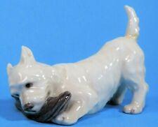 Royal Copenhagen Westie (West Highland White Terrier) Dog Figurine #3476 as is