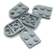Lego 5 New Light Bluish Gray Plates Modified 3 x 2 with Hole  Pieces