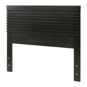 IKEA MATHOPEN Headboard King Black brown SOLID WOOD