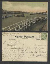 1909 OSTENDE BELGIUM Les NOUVELLES INSTALLATIONS MARITIMES POSTCARD