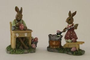 Osterhasen Paar Eier Maler Mann und Frau 2er Set