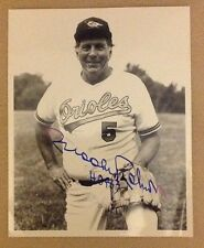 Orioles Brooks Robinson Autograph 8x10 Black & White photo Auto