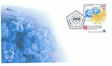 ISRAEL 2013 QUASI PERIODIC CRYSTALS CHEMISTRY NOBEL PRIZE STAMP FDC
