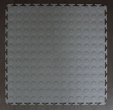 GREY PVC INTERLOCK TILES / GARAGE FLOORING / RUMPUS / GYM /WORKSHOP /ALL PURPOSE