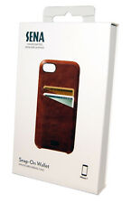 Sena Snap On Wallet Genuine Leather Drop Safe Case Cover iPhone 7/8 - NEW