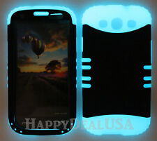 KoolKase Hybrid Silicone Cover Case for Samsung Galaxy S3 - ZEBRA BLUE