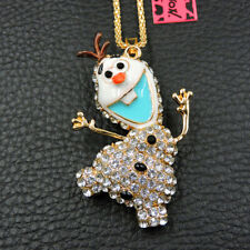 New Fashion Betsey Johnson Crystal Enamel Mole Mouse Pendant Sweater Necklace