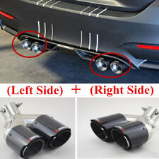 (Left+Right)63/89mm Carbon Fiber Straight Adjustable Dual Exhaust Pipe Universal