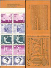 Sweden 1972 Sports/Games/Tennis/Fencing/Diving/Skating/Gymnast 10v bklt (b6820e)