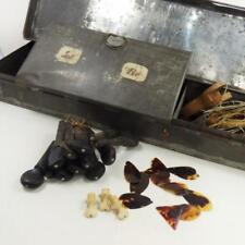 19thC PEWTER BOX Violin +other Musical Related Items, tortoiseshell plectra etc